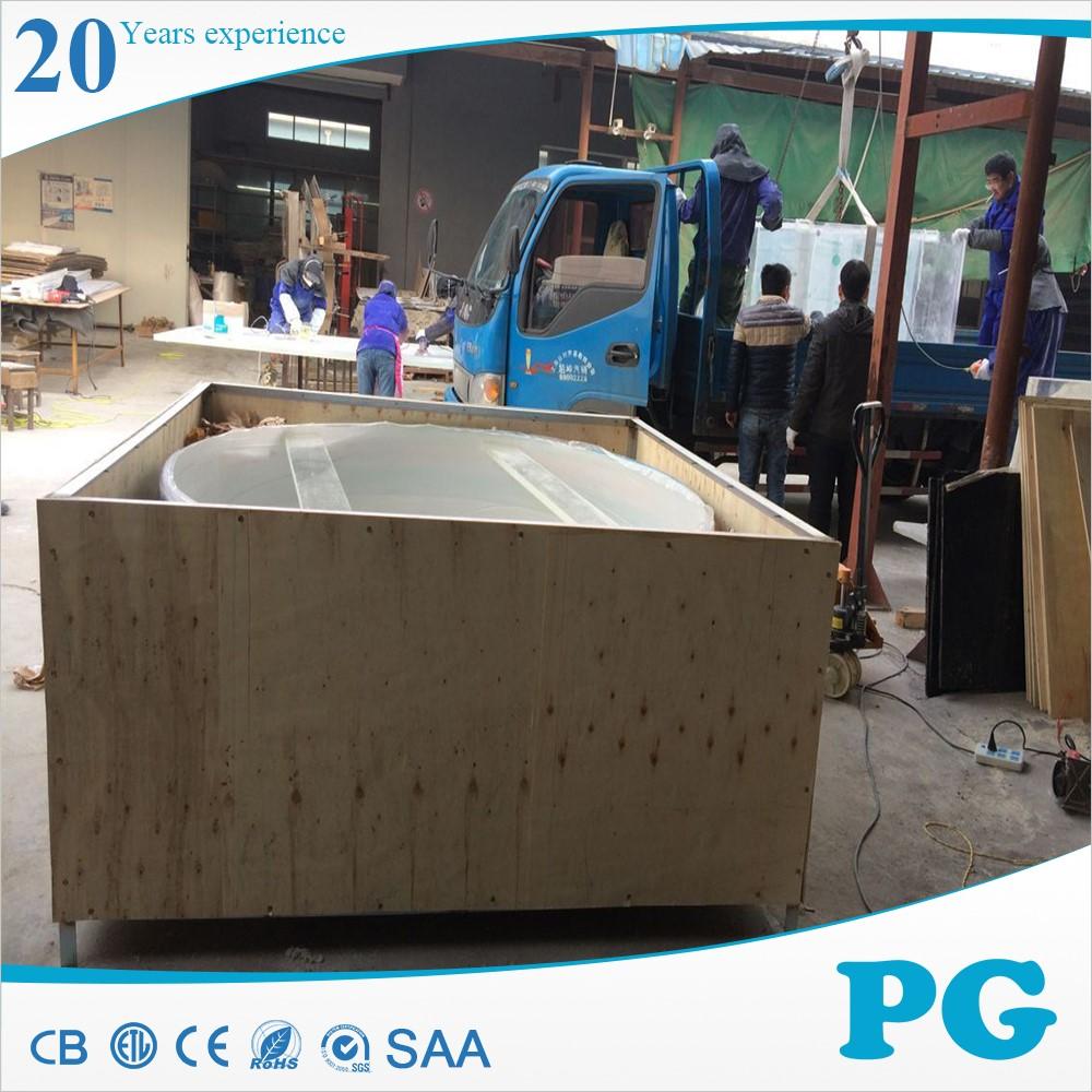 Pg Large Custom Oval Double Bullnose Acrylic Fish Tank
