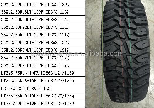 Haida Mud Terrain Tires Hd878 35x12 5r20 35x12 5r22 China Mud