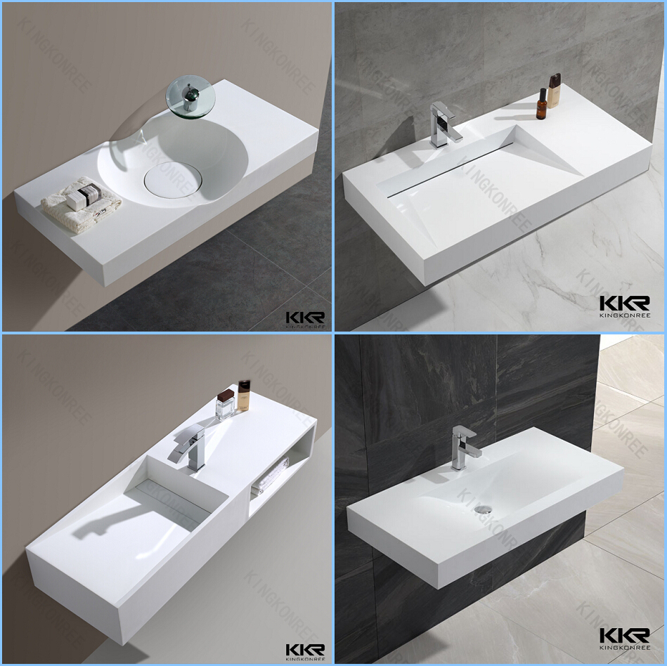 Good KKR Porcelain European Bathroom Sinks, Solid Surface Stone Washbasin Photo
