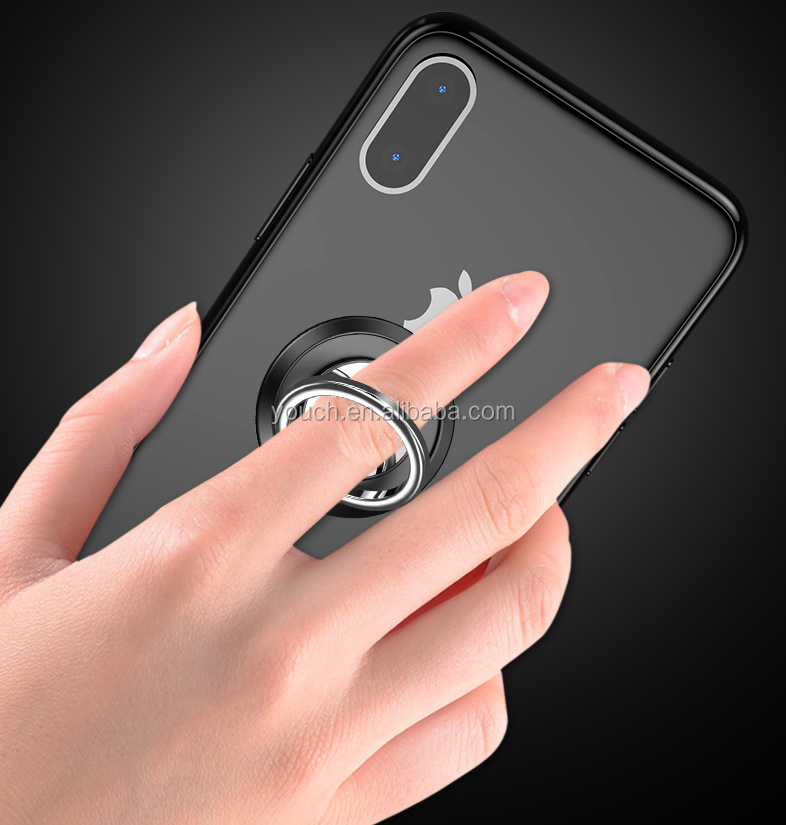Custom logo print eco -friendly Universal Cell Phone  Finger Ring Holder 360 rotates for promotional gifts