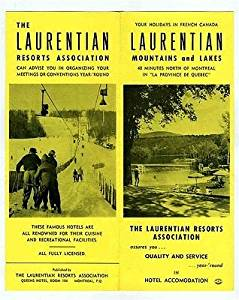 Laurentian Resorts Mountains and Lakes Brochure 1950's
