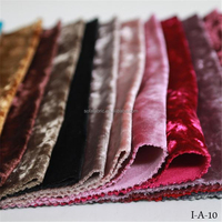 China home textiles ice velvet sofa fabric wholesale for upholstery