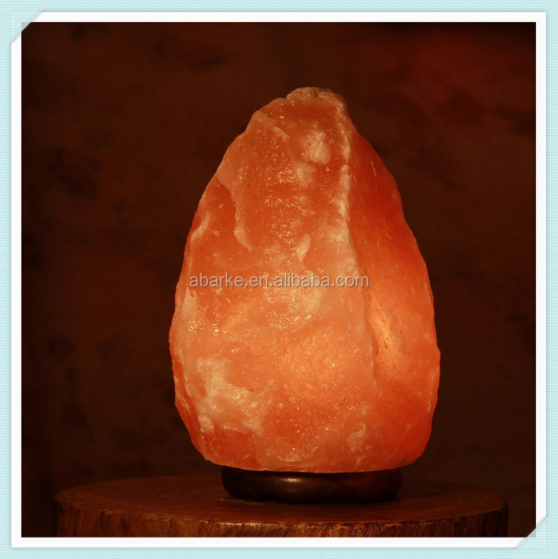Wooden Based Natural Himalayan Salt Lamps Wholesale