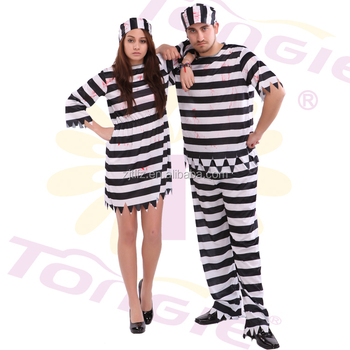 Sexy adult stripe prisoner costume halloween cosplay costumes in cheap price  sc 1 st  Alibaba & Sexy Adult Stripe Prisoner Costume Halloween Cosplay Costumes In ...