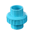 Plastic Pipe Fitting Blue BS Thread UPVC/PVC Union For Water Supply