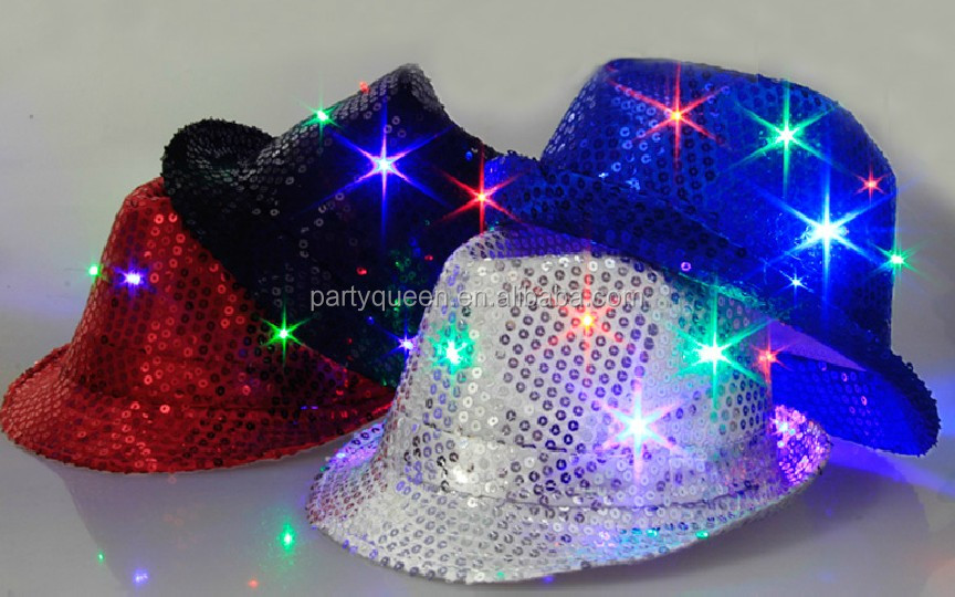 e20fbb03270 Led Flashing Sequin Party Hat