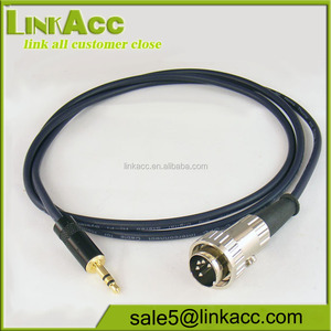 LKCL244 5 Pin Ring Locking DIN to 3.5mm Mini Jack Plug Performance Cable