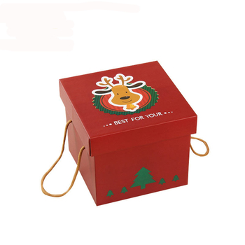 custom handmade paper cardboard lid and bottom large rigid christmas gift boxes with lids - Large Christmas Gift Boxes