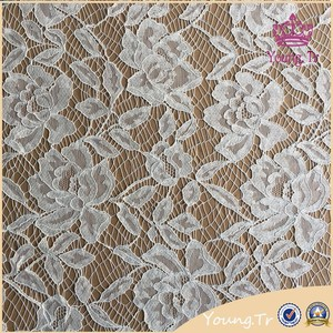Changle manufacturer price Chemical bulk cording lace bridal fabric