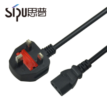 SIPU china supplier 10A 16A 250V 220v 3 prong uk standard power cords for computers