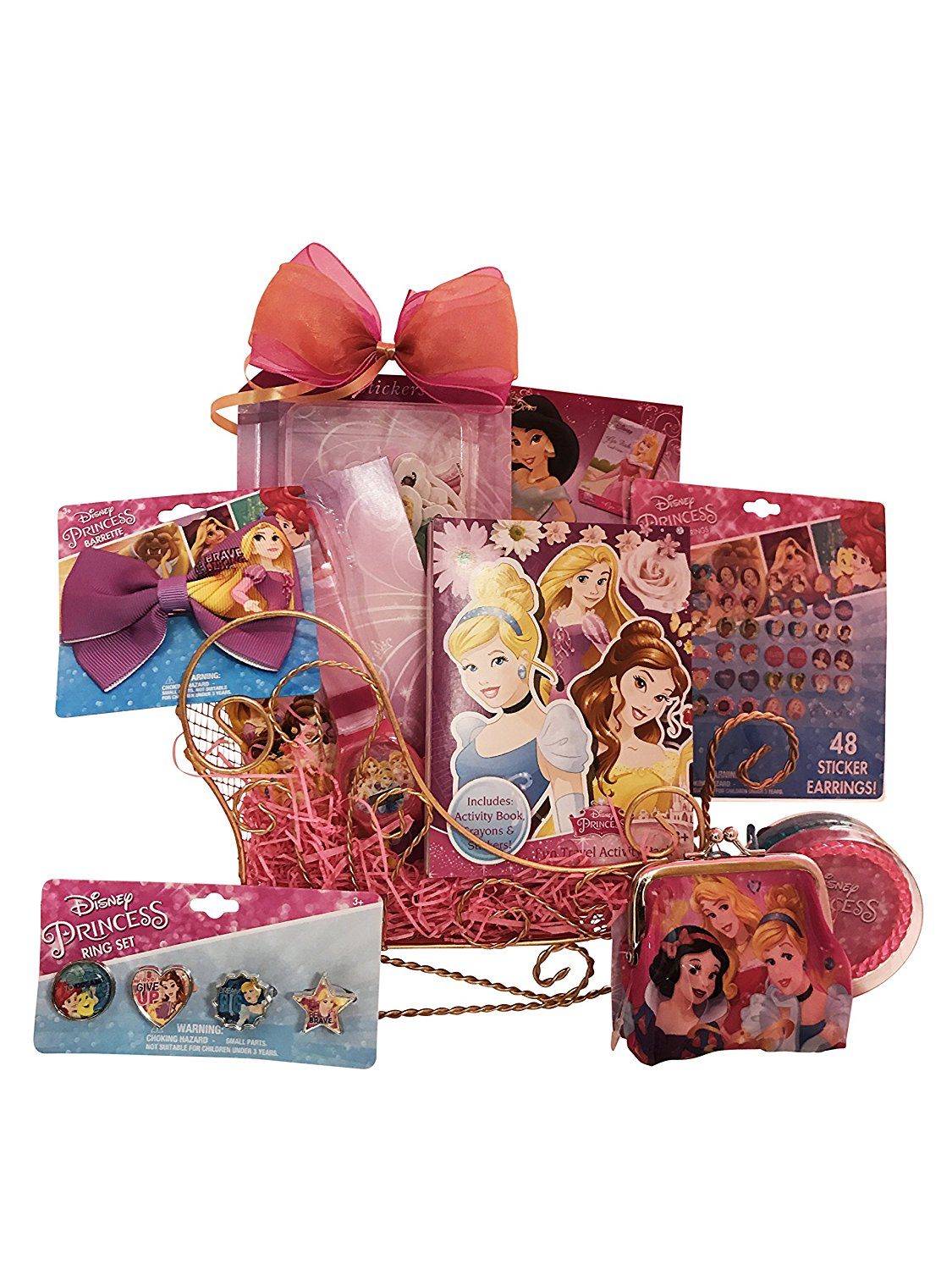 Disney Princess Sleigh Easter Gift Baskets for Girls Perfect Easter Gift for Girls 3 to 6 Years Old