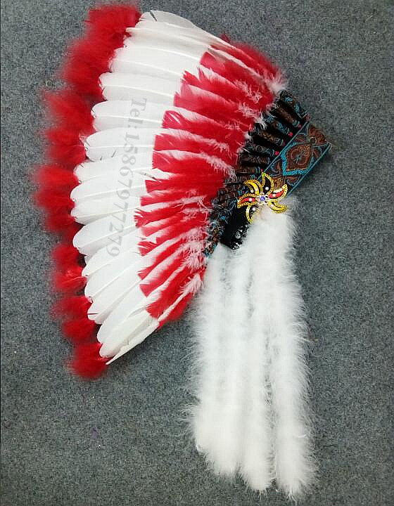 Hot Selling Native American Indian Feather Headband Craft Show Carnival Headdress