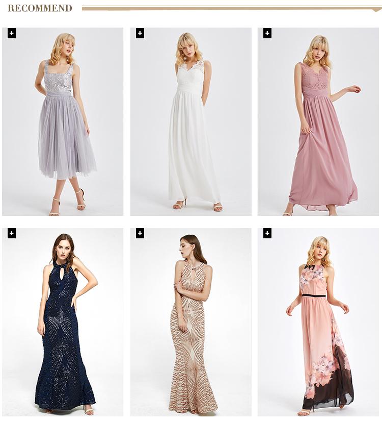 Prezzo di vendita al dettaglio A Metà Polpaccio Delle Donne Del Ricamo Petite Abbigliamento Vestito Da Ospiti di Nozze