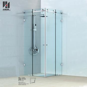 3 Panels Bathroom Room Frameless Sliding Glass Shower Door Buy 3