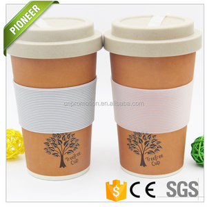 High quality biodegradable Organic full bamboo coffee mug with bamboo lid bamboo lid coffee mug