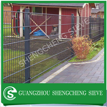 Exceptional Eco Friendly Weld Mesh Fencing Panel Steel Garden Fence Double Wire Fencing  Lowest Price