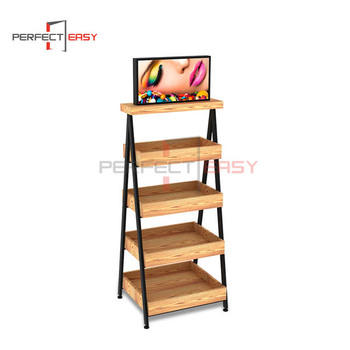 Custom made metal advertising display creative cosmetic display stand