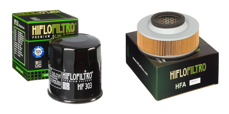 Oil and Air Filter Kit for KAWASAKI VN1500 D1,D2,E1 Classic 96-98 HIFLO FILTRO