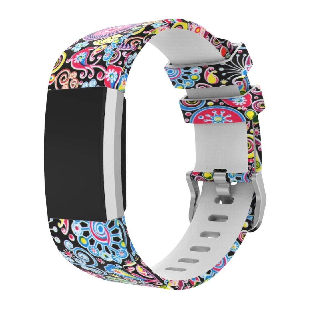 Joint For Fitbit Charge 2 Bands, Fashion Adjustable Replacement Accessory Sport Silicone Bracelet Watch Band Wrist Strap For Fitbit Charge 2 Smartwatch Fitness Wristband