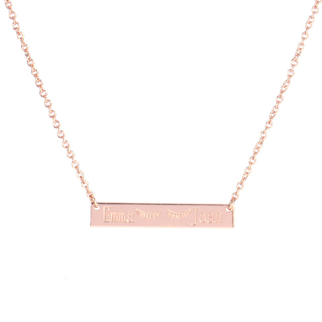 personalized wholesale custom at initial alibaba crossbar manufacturers and suppliers necklace com name engraved bar showroom