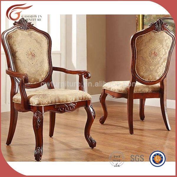 China cl sica de lujo comedor silla de madera a111 sillas for Sillas comedor clasicas tapizadas