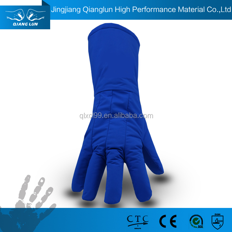 Soft and cozy extreme cold weather gloves for liquid nitrogen handling