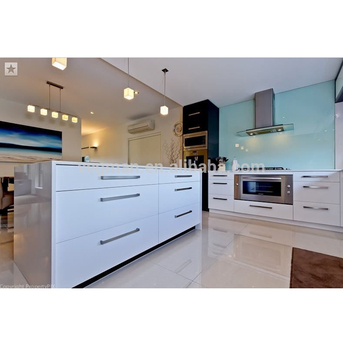 White Gloss Laminated Mdf Kitchen Cabinet Doors For Modern