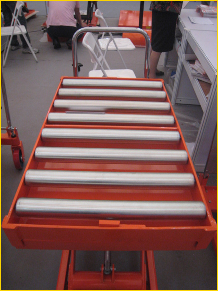 SINOLIFT CYT500R Mobile Hydraulic Hand Table Lift  with Rollers