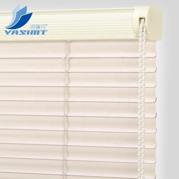 Pure color blackout 25mm S shape venetian blinds PVC roller blinds with bead rope control