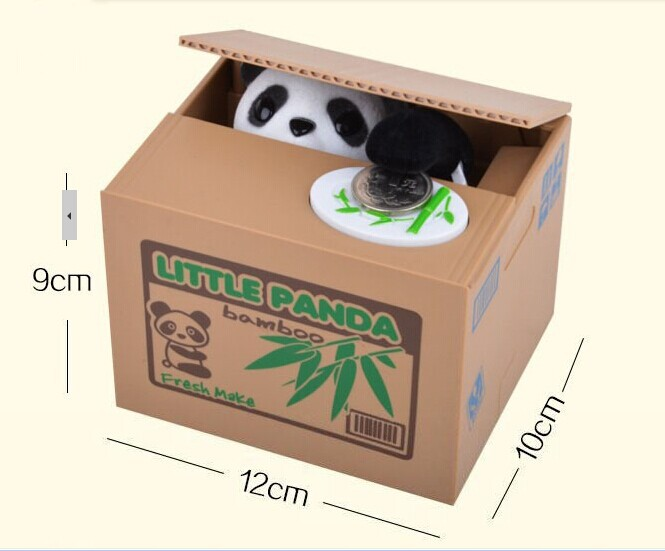 Hot Kids novelty toys novelty CPAM mischief steal safe secret money boxes cartoon panda piggy coin bank creative gift box