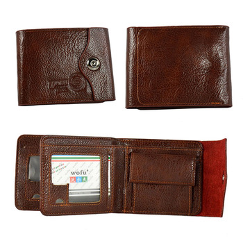 412334849d25 Hot Sale Mens Wallet Double Fold Brown Cash Card Slim Wallet Easy to Carry