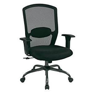 Avenue 6 Office Star 583713 Screen Back Chair with Mesh Seat