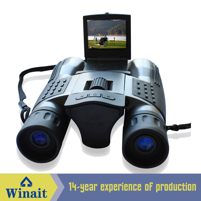 "2016 Factory price high quality 12 MP digital binoculars camera with 2.0"" TFT LCD"