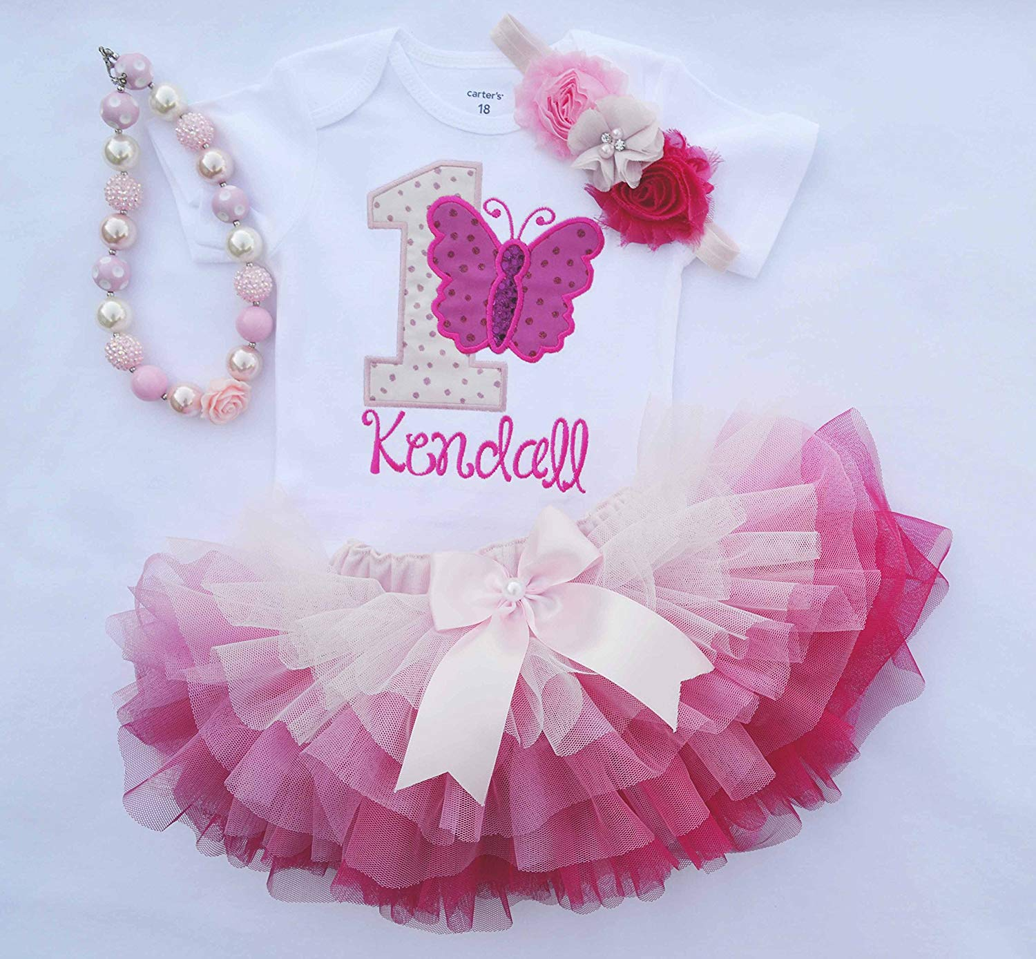 ad271f8b6 Get Quotations · First Birthday Outfit Girl,Butterfly birthday outfit,Girls  Cake smash Outfit,Girls 1st