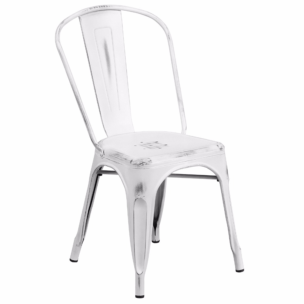 Metal Stackable Vintage Garden White Bar Restaurant <strong>Chair</strong> Wholesale