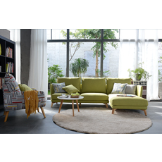 Foshan shunde furniture Italy design living room sofas modern corner sofas