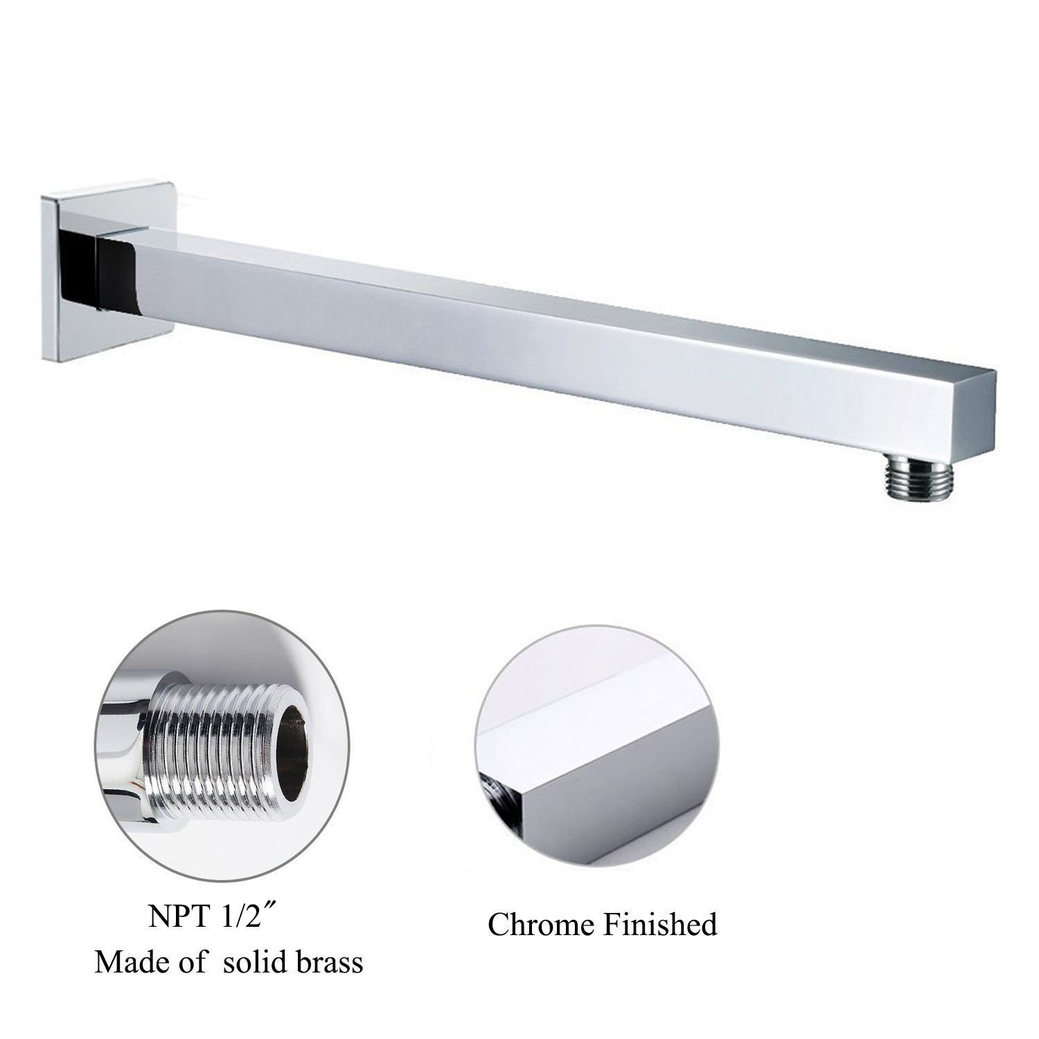 Universal Showering Components Straight Wall Mounted 16 Inch