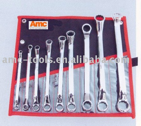 Double offset ring spanner set(wrench,hand tool,hardware tool)