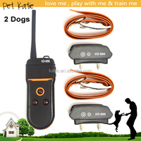 800 Meters Remote Control Training Dog E Collars for Two Dogs