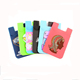 cheap promotion item 8.7*5.6cm silicone constellation cell phone credit card holder