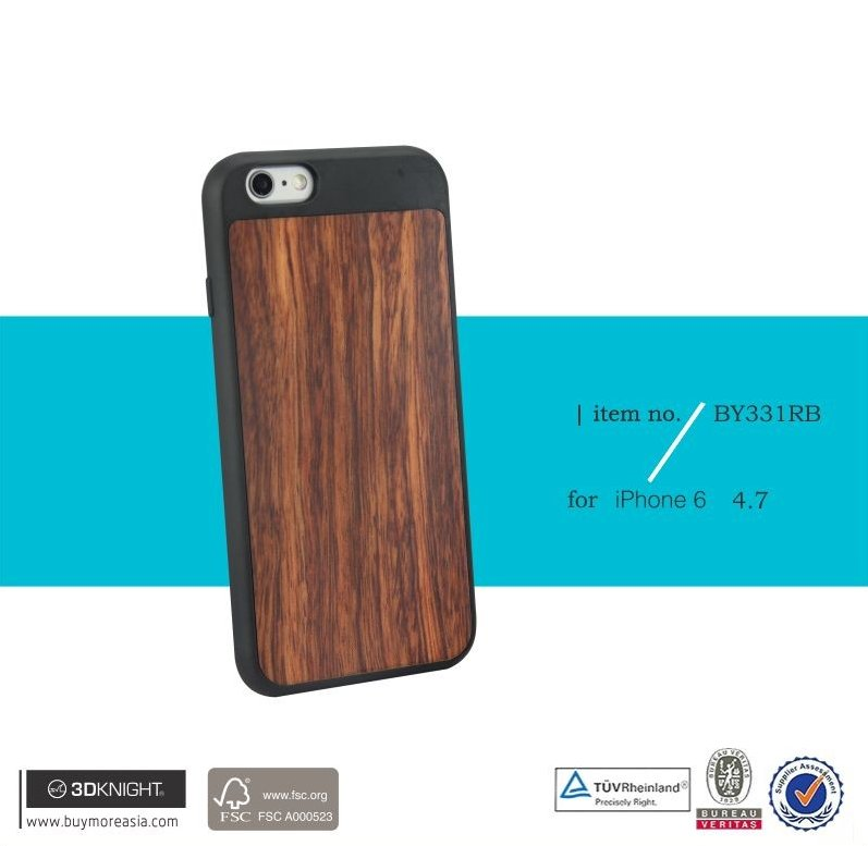 3D Knight mobile phone accessories natural wood carbonized bamboo Handmade Wooden Blank Cover Case for iPhone 6