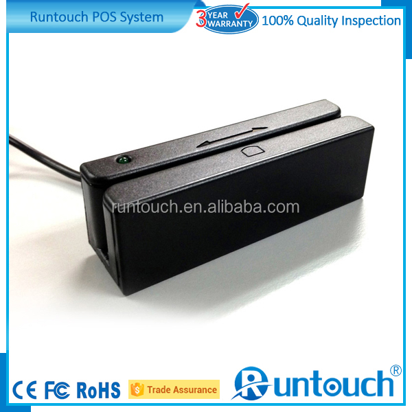 Runtouch RT-M123 Mini Wireless Mini portable Magnetic Stripe card 3 tracks reader, Magcard Reader