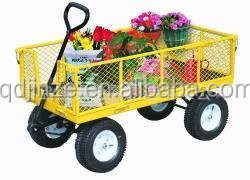 Hot sale foladable mesh garden cart,portable hand trolley price