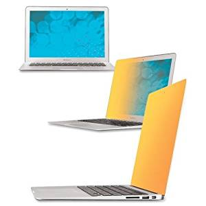 """Wholesale CASE of 5 - 3M Gold Privacy Filter-Gold Privacy Filter, 13"""", f/Macbook Air, Clear"""