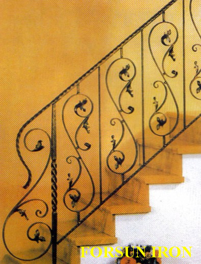 Arabic Indian Style white round wood stair railings