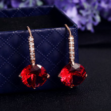 High reputation low price various color rhinestone charming girl cc earrings