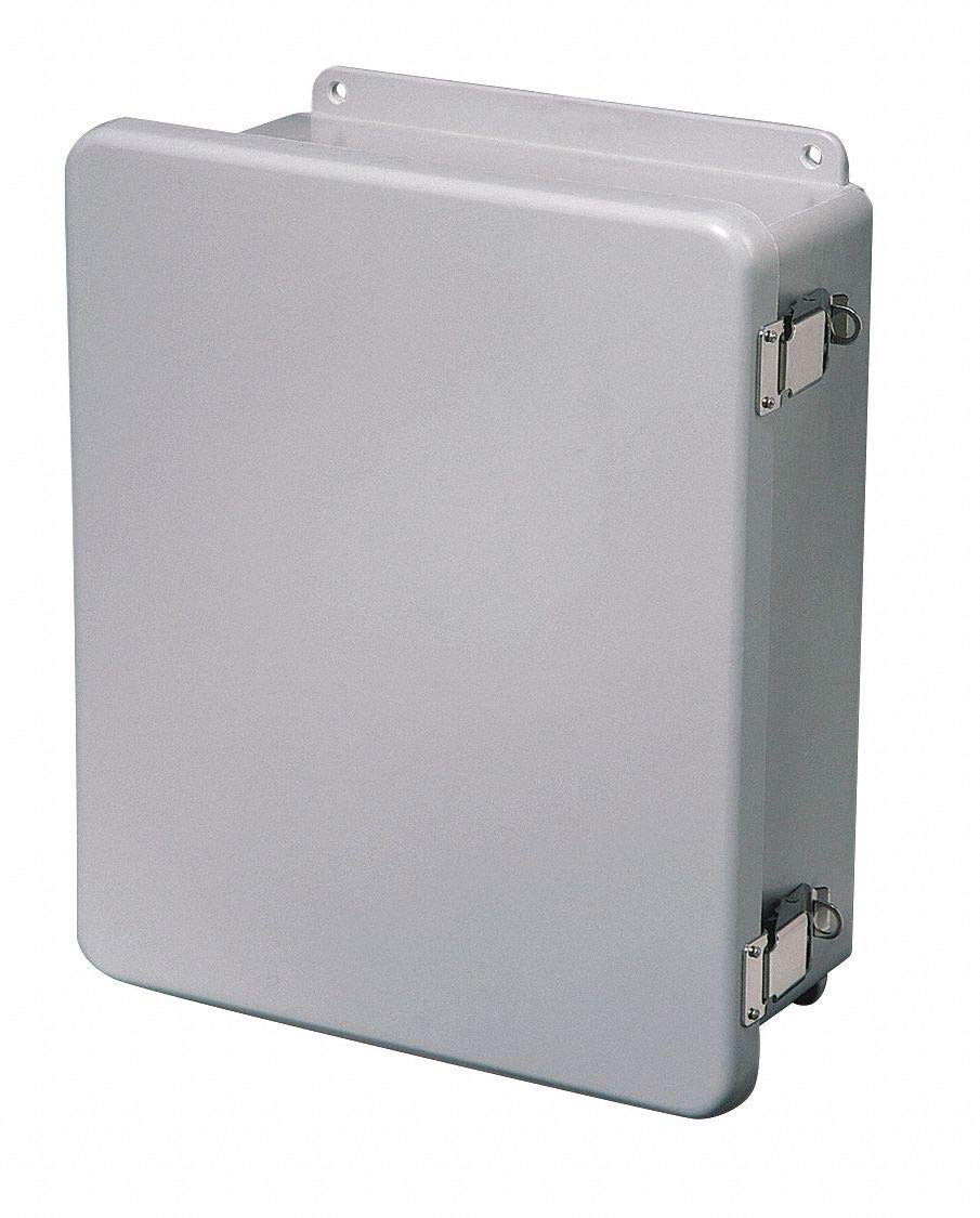 "12""H x 12""W x 6""D Non-Metallic Enclosure, Light Gray, Knockouts: No, Padlockable Latch Closure Metho"