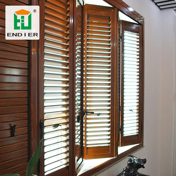 Louver Folding Shutter Door Aluminum Louvered Bifold Doors