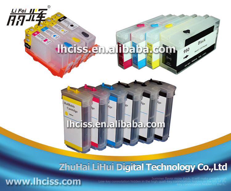 High quality for HP 5016/5017/5018/4913/4836/4837 compatible 69/28ml refill ink cartridge for hp 11 82 84 with auto reset chip
