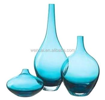 venta caliente de alta calidad turquesa jarrones de cristal al por mayor